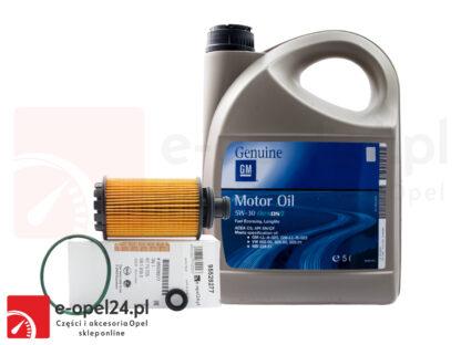 Zestaw oryginalnego filtra oleju GM i 5L oleju GM 5W-30 Opel Antara / Insignia A B / Zafira C- 2.0 CDTI - 95528277 / 19 42 003