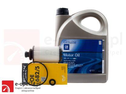 Zestaw filtra oleju Filtron i 5L oryginalnego oleju GM Opel Antara / Insignia A B / Zafira C- 2.0 CDTI - 95528277 / 19 42 003