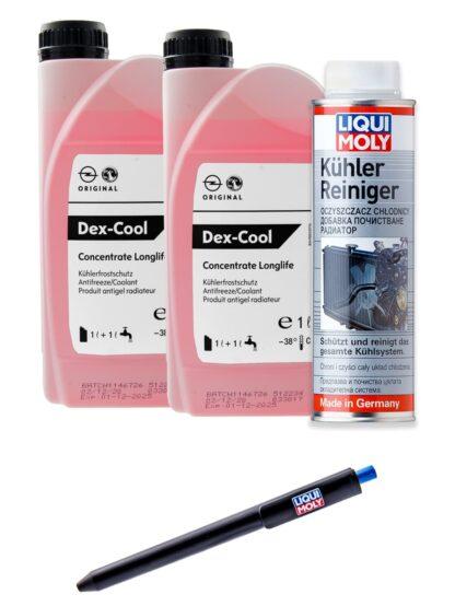 Płukanka układu chłodzenia Liqui Moly Kühler Reiniger 300ml oraz 2L oryginalnego koncentratu płynu chłodniczego GM Dex-cool -1940663 / 19 40 663 / 93170402 - 2699 + GRATIS