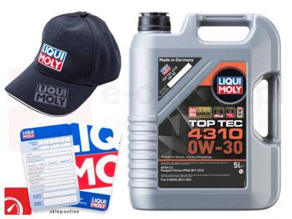 Olej Liqui Moly Top Tec 4310 0W30 5L + Gratis czapka