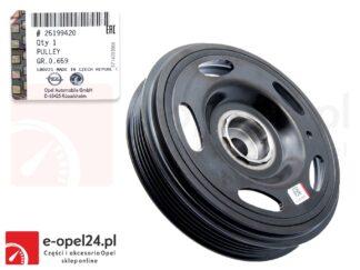 Oryginalne koło pasowe wału korbowego z piastą - 5-cio rowkowe Opel Astra J / Insignia A / Zafira C - 1.4- 25199420
