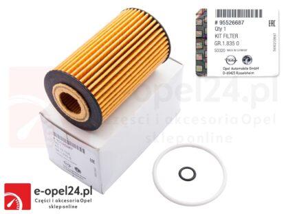 Oryginalny filtr oleju GM Opel Astra J K / Insignia A B / Meriva B / Mokka X / Zafira C - 1.6 CDTI - 650163 / 95526687