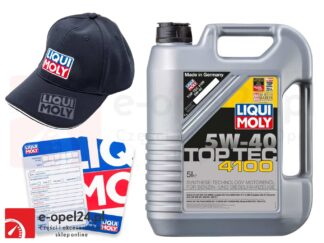 Olej syntetyczny Liqui Moly TopTec 4100 5W40 5L + Gratis czapka Liqui Moly i zawieszka serwisowa