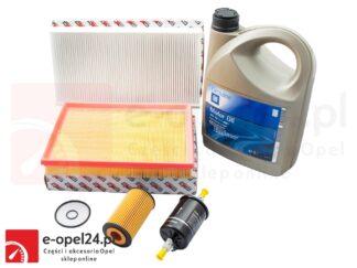 Zestaw filtrów + olej 10W30 5L + uszczelka korka – Opel Corsa C 1.0 / 1.2 / 1.4 - od numeru silnika 19MA9235 -