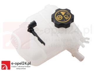 Zbiornik wyrównawczy płynu chłodniczego z czujnikiem poziomu oraz korkiem - Opel Astra J / Cascada - 1304019 / 13 05 248
