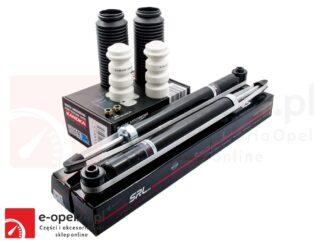 Zestaw amortyzatorów osi tylnej wraz z odbojami i osłonami Opel Corsa D- 436387 / 436388 / 436985 / 93189035 / 93189036 / 13433137