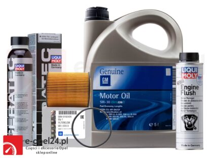Oryginalny filtr oleju GM + 5L GM DEXOS II 5W30 + płukanka Liqui Moly + Ceratec- Opel Astra G / Corsa C / Omega B / Signum / Vectra B C / Zafira A- 1.8 / 2.5 / 2.6 / 3.0 / 3.2- 650308 / 1942003 / 7181 / 2640