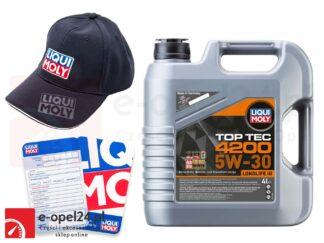 Olej syntetyczny Liqui Moly 5W30 TopTec 4200 4L - 3715 + czapka Liqui Moly