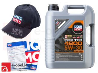 Olej syntetyczny Liqui Moly 5W30 TopTec 4200 5L - 8973 + gratis czapka Liqui Moly