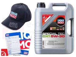 Olej syntetyczny Liqui Moly Special Tec DX1 5W-30 5L + Gratis czapka Liqui Moly oraz zawieszka