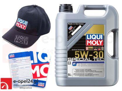 Olej syntetyczny Liqui Moly Special Tec 5W30 5L + Gratis czapka Liqui Moly oraz zawieszka serwisowa