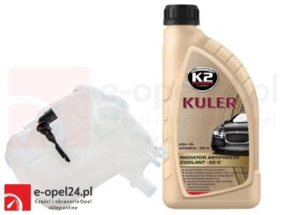 Zbiornik wyrównawczy płynu chłodniczego z czujnikiem poziomu i 1l płynu K2 Kuler – Opel Astra J – 1.3 / 1.4 / 1.6 / 1.7 / 2.0 - 13 04 019
