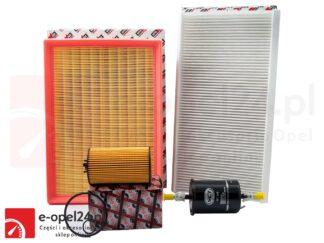 Zestaw filtrów + uszczelka korka – Opel Corsa C 1.0 / 1.2 / 1.4 – od numeru silnika 19MA9235 –