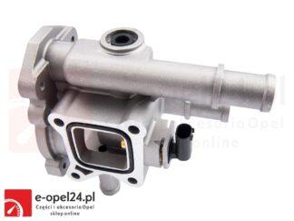 Obudowa termostatu w zestawie z czujnikiem temperatury do Opel Astra H III / J IV / Insignia A / Mokka / Signum / Vectra C / Zafira B C 1.6 1.8 – 1338177 / 55353311