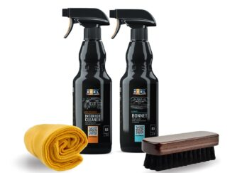 Zestaw kosmetyków ADBL BONNET i ADBL INTERIOR CLEANER do czyszczenia wnętrza i tapicerki materiałowej + mikrofibra i szczotka