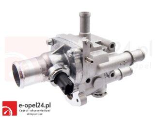 Kompletny termostat układu chłodzenia w zestawie z obudową, uszczelką oraz czujnikami temperatury Opel Astra H III / Mokka / Signum / Zafira B 1.6 1.8 - 1338177 / 55577073