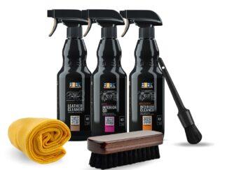 Zestaw kosmetyków marki ADBL do czyszczenia wnętrza, w tym tapicerki skórzanej - INTERIOR CLEANER / INTERIOR QD /LEATHER CLEANER