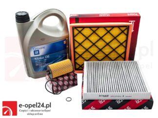 Zestaw filtrów, oleju i uszczelki korka spustowego oleju Opel Astra J / Zafira C - 1.4 / 1.6 / 1.8 - 0650172 / 1808246 / 0834622 / 652540 / 1942003