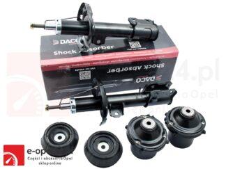 Zestaw przednich amortyzatorów marki DACO wraz z poduszkami i łożyskami Opel Corsa C - 1.0 / 1.2/ 1.3 / 1.4/ 1.7 / 1.8