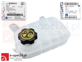 Oryginalny zbiorniczek wyrównawczy wraz z korkiem Opel Mokka / Mokka X- 1304041 / 95201979
